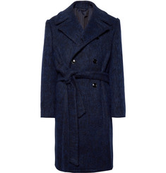 MP Massimo Piombo Double-Breasted Virgin Wool-Blend Overcoat