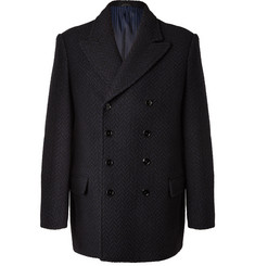 MP Massimo Piombo Pierre Double-Breasted Herringbone Wool Coat