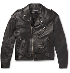 Balenciaga - Embellished Leather Biker Jacket