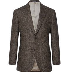 Richard James Brown Hyde Slim-Fit Herringbone Wool-Blend Blazer