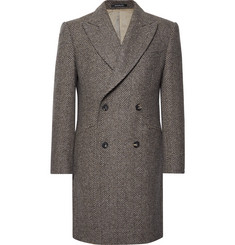 Richard James - Slim-Fit Double-Breasted Herringbone Wool Coat