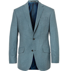 Richard James Aqua-Blue Slim-Fit Wool-Flannel Suit Jacket