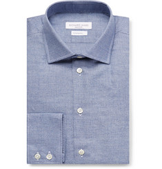 Richard James Blue Puppytooth Cotton Shirt