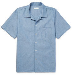 Richard James - Camp-Collar Cotton-Chambray Shirt