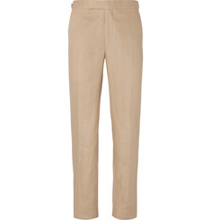 Richard James - Beige Hyde Slim-Fit Linen Suit Trousers