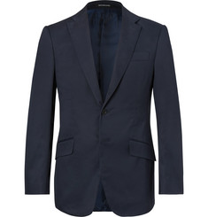 Richard James Navy Seishin Slim-Fit Stretch-Cotton Twill Suit Jacket