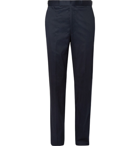 RICHARD JAMES Navy Hyde Slim-Fit Stretch-Cotton Twill Suit Trousers