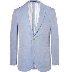 Richard James Blue Slim-Fit Cotton-Twill Blazer