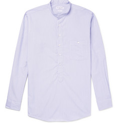 Richard James Grandad-Collar Striped Cotton Shirt