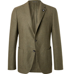 Lardini - Green Slim-Fit Unstructured Wool Blazer