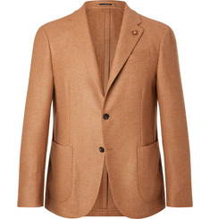 Lardini - Camel Slim-Fit Unstructured Wool Blazer