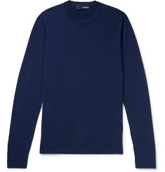 Lardini Wool, Silk and Cashmere-Blend Sweater
