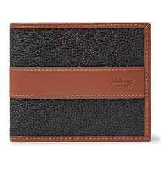 Mulberry - Leather-Trimmed Pebble-Grain Coated-Canvas Billfold Wallet