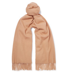 Mulberry Fringed Wool Scarf