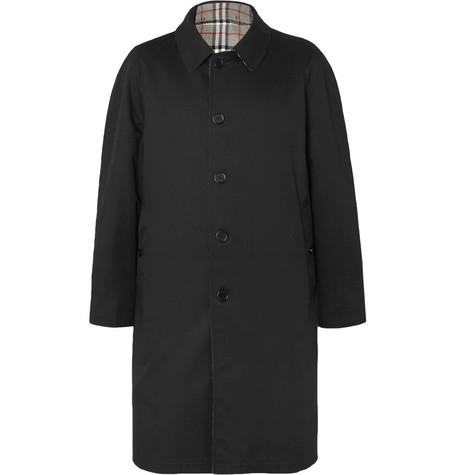 Reversible Checked Wool And Gabardine Coat by Burberry