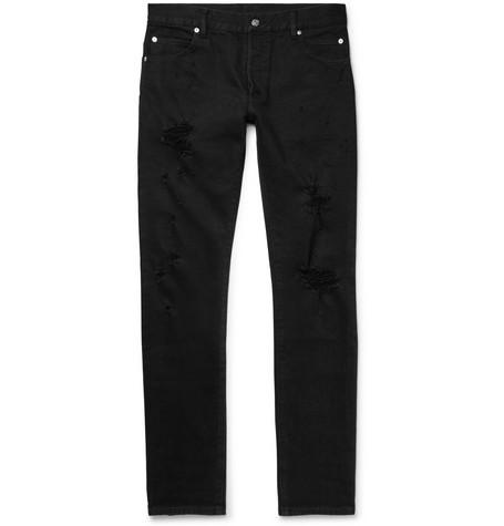 Distressed Denim Jeans by Balmain