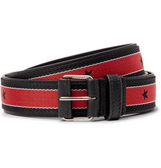 Givenchy 3cm Leather-Trimmed Webbing Belt