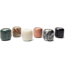 Tom Dixon Materialism Stone Scented Candle Set, 6 x 120g