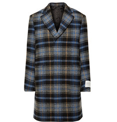 CALVIN KLEIN 205W39NYC + Pendleton Oversized Checked Virgin Wool Overcoat