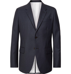 CALVIN KLEIN 205W39NYC Navy Puppytooth Wool Suit Jacket