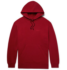 CALVIN KLEIN 205W39NYC Oversized Embroidered Loopback Cotton-Jersey Hoodie
