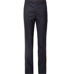 CALVIN KLEIN 205W39NYC Navy Slim-Fit Striped Puppytooth Wool Suit Trousers