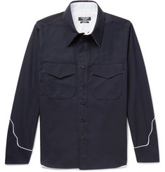 CALVIN KLEIN 205W39NYC Contrast-Trimmed Cotton Shirt