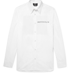 CALVIN KLEIN 205W39NYC + Andy Warhol Foundation Printed Embroidered Cotton-Poplin Shirt