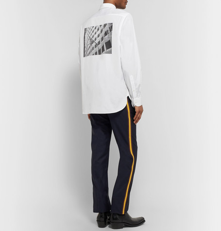 + Andy Warhol Foundation Printed Embroidered Cotton Poplin Shirt by Calvin Klein 205 W39 Nyc