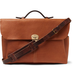 Bleu de Chauffe Hank Full-Grain Leather Briefcase