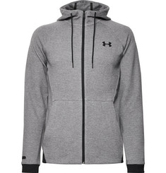 Under Armour Unstoppable Mélange Cotton-Blend Jersey Zip-Up Hoodie