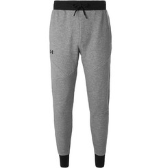 Under Armour Unstoppable Tapered Tech Cotton-Blend Fleece Sweatpants