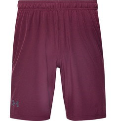 Under Armour Cage Mesh-Trimmed Stretch-Shell Shorts