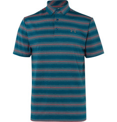Under Armour - Playoff Striped Stretch-Jersey Golf Polo Shirt