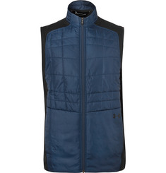 Under Armour Elements Quilted Shell and Stretch-Jersey Golf Gilet