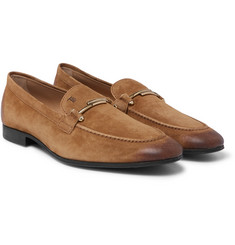 Tod's - Burnished-Suede Loafers
