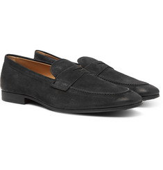 Tod's - Oiled-Suede Loafers