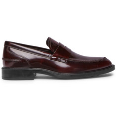 Tod's Burnished-Leather Penny Loafers