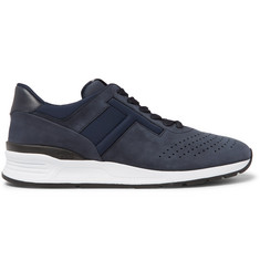 Tod's Leather-Trimmed Nubuck and Neoprene Sneakers