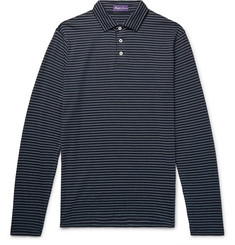 Ralph Lauren Purple Label Striped Pima Cotton-Jersey Polo Shirt