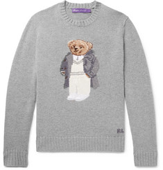 Ralph Lauren Purple Label - Bear-Intarsia Cashmere Sweater