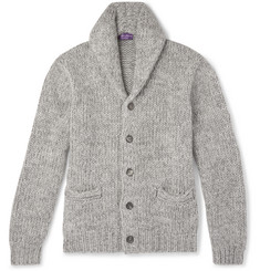 Ralph Lauren Purple Label - Shawl-Collar Mélange Cashmere Cardigan