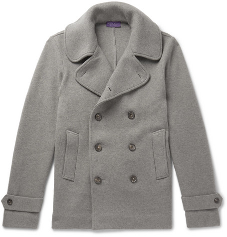 Wool-jersey Peacoat - Gray