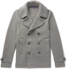 Ralph Lauren Purple Label - Wool-Jersey Peacoat