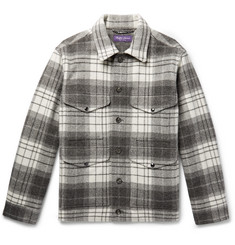 Ralph Lauren Purple Label Checked Wool and Alpaca-Blend Jacket
