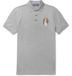 Ralph Lauren Purple Label Appliquéd Cotton-Piqué Polo Shirt
