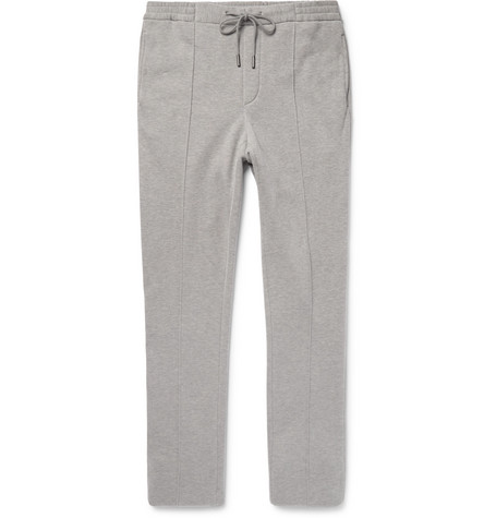 Slim-fit Fleece-back Cotton-blend Jersey Sweatpants