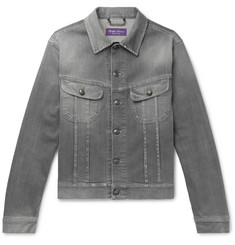 Ralph Lauren Purple Label Stretch-Denim Trucker Jacket