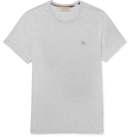 Mélange Cotton-jersey T-shirt - Gray