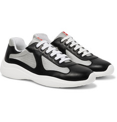 Prada - America's Cup Leather and Mesh Sneakers